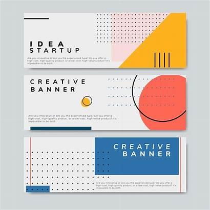 Banner Minimal Memphis Graphic Vector Start Layouts