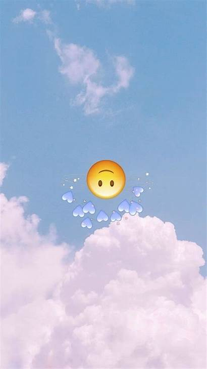 Iphone Wallpapers Emoji Aesthetic Sad Emojis Backgrounds