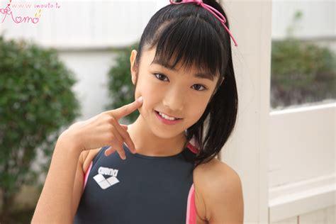 Momo Shiina Grey Swimsuit Onecoolthingtoday