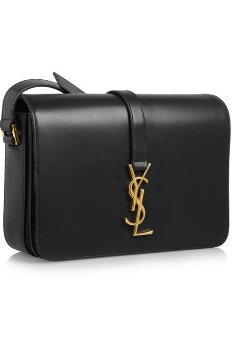 lyst saint laurent monogramme sac universite leather