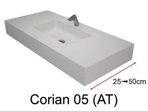 waschbecken 50 x 35 waschbecken largeur 110 corian waschbecken 100 x 35 cm
