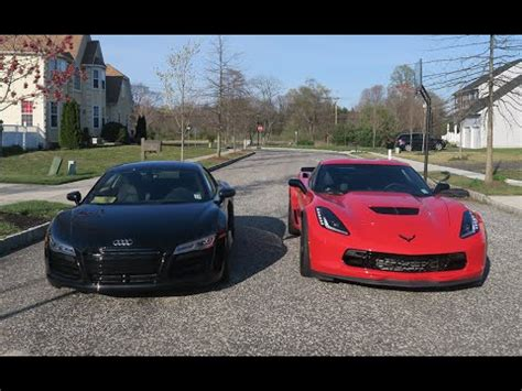 lance stewart audi r8 audi r8 vs z06 c7 which is faster supercars youtube