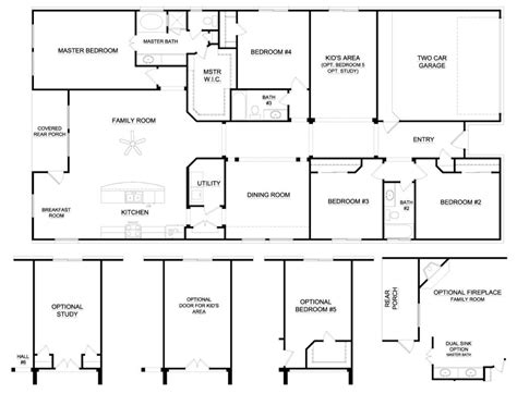 6 Bedroom House Plans by Awesome 6 Bedroom Ranch House Plans New Home Plans Design