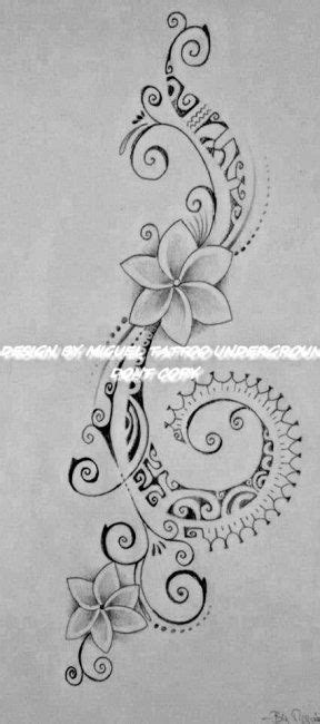 Polynesian Tattoo for Woman featuring Tipanier Flowers and a Hook of Maori Symbols   Samoan