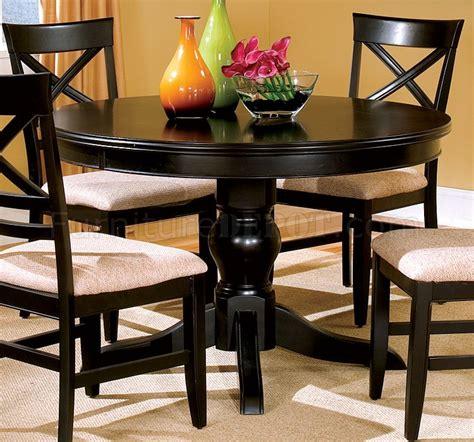 black finish dining room   table