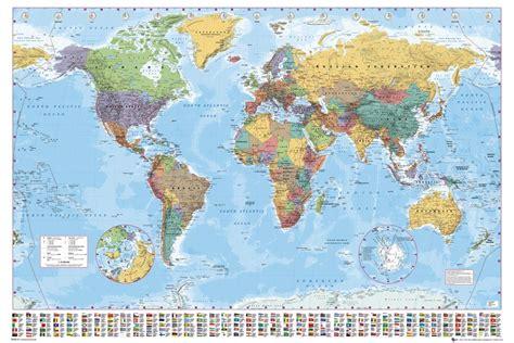 grande carte du monde poster affiche murale avec drapeaux de pays nouvelle version 224 jour ebay