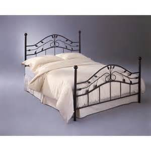 fashion bed group sycamore metal headboard and footboard