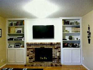 Tv On Shelf Next To Fireplace Ideas High White Wooden