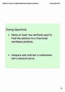 Module 1 Lesson 15 Multi Step Ratio Problems