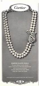 1964 cartier diamond brooch and pearl necklace print ad With cartier bijoux