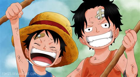 piece  ace  luffy  fdm  deviantart