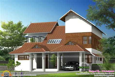 3 bedroom house floor plans modern mix sloped roof home kerala home design and floor
