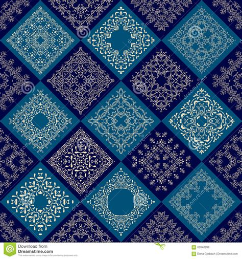 abstract patchwork tiles seamless background stock vector image 62040286