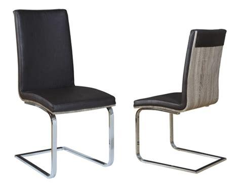 chaises de séjour chaise sejour lathi 56 chene gris fonce