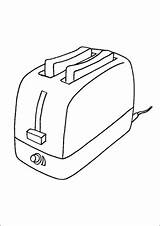 Toast Toaster Coloring Pages Kitchen Printable sketch template
