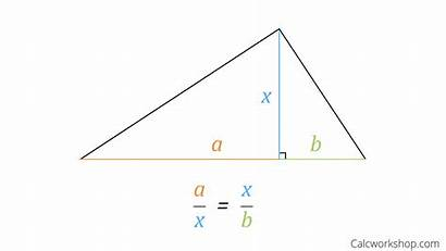 Altitude Rule Triangles Right Similar Triangle Examples