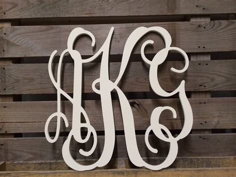 painted monogram extra large wall letters  cursive