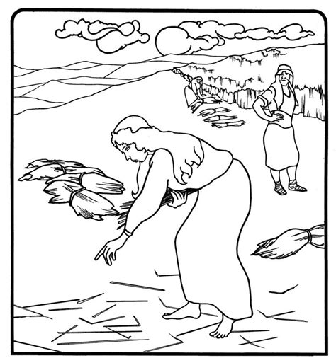 Kleurplaat Ruth by Free Ruth In The Bible Coloring Pages Name Is Ruth