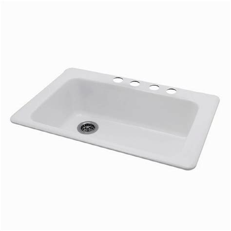 single porcelain kitchen sink shop american standard silhouette single basin drop in or