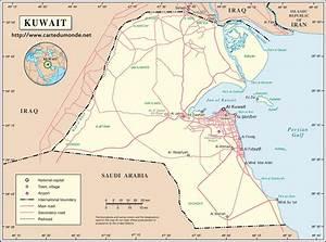 Mapa Kuwait, Mapa de Estados Kuwait