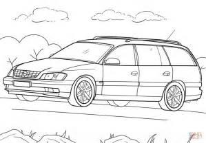 Caravan Kleurplaat by Opel Omega Caravan Coloring Page Free Printable Coloring