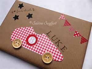 Kleine Geschenke Verpacken : diy idee geschenke sch n verpackt ein pr sent f r kleine rennfahrer blog sabine seyffert ~ Orissabook.com Haus und Dekorationen