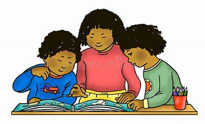 Children African American Reading Clipart Studying Child