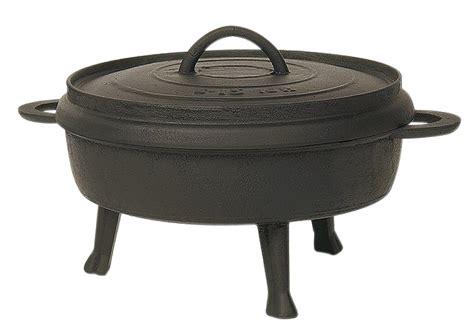 cuisiner feves tourtière fonte sur pied pour feu de bois tom press