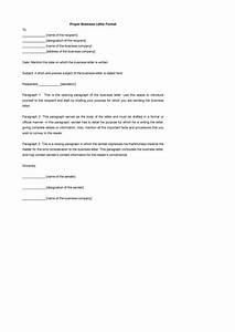 35 formal business letter format templates examples With 12 letters