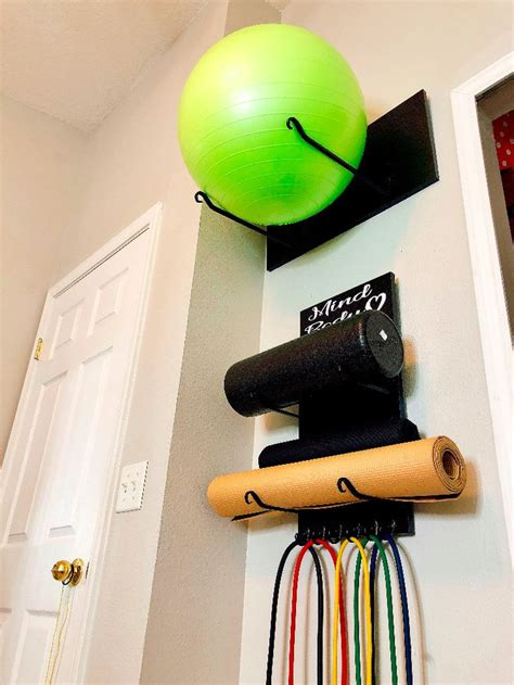 diy exercise ball storage diy yoga mat storage workout room home small home gyms workout
