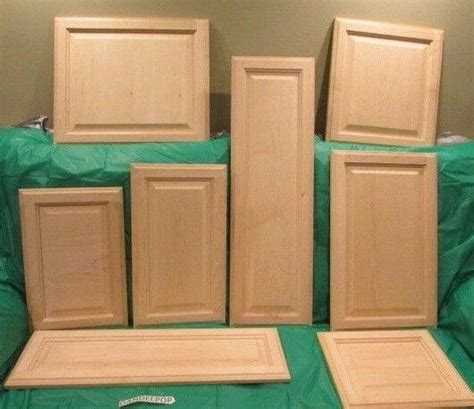solid wood maple unfinished raised panel kitchen cabinet