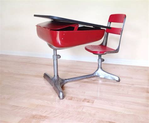 school desk chair combo vintage american seating company