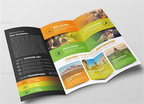 travel  tourist brochure design templates