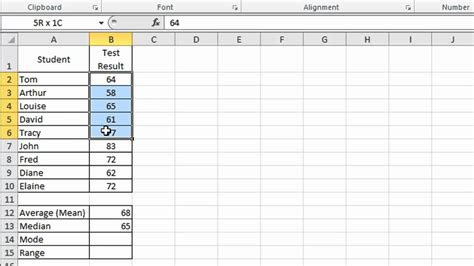 what does open table mean excel tip 002 average mean mode median and range