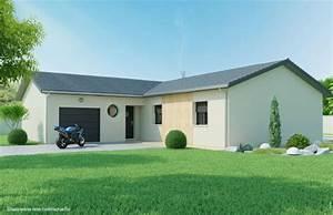 Maison Plain Pied En L : mod le de maison plain pied en l ciel de mai ~ Melissatoandfro.com Idées de Décoration