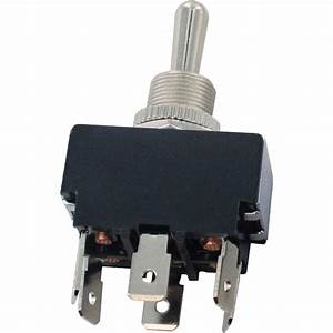 6 Blade Terminal Toggle Switch Momentary On