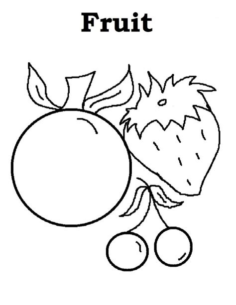 Coloring Fruit by Free Printable Fruit Coloring Pages For