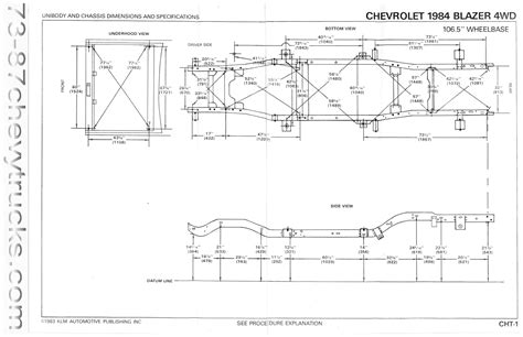 Chevy S10 Frame Dimensions