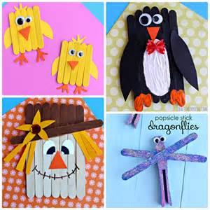 Popsicle Stick Crafts Kids Make