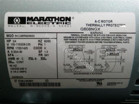 marathon electric motors wiring diagram impremedia net