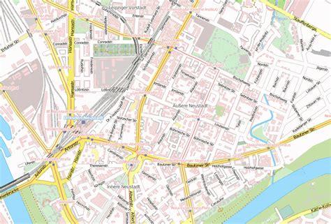 aeussere neustadt stadtplan mit satellitenbild und