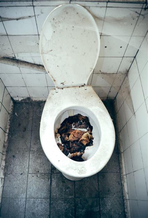 ekelhafte toilette stockbild bild von spinne verlassen