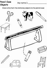 Pencil Coloring Pages Case Box Template Worksheets Getdrawings Templates sketch template
