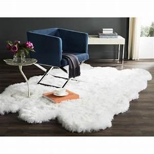 grande peau de mouton descente de lit longue With tapis peau de vache avec canapé lit haut de gamme