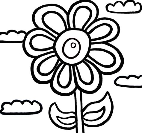 pictures of flowers to color flower colour in clipart best