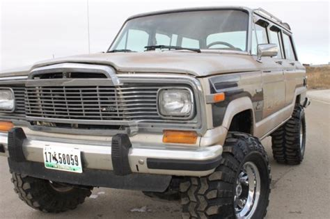 classic jeep wagoneer lifted 1982 jeep grand wagoneer limited 4x4 lifted runs like a