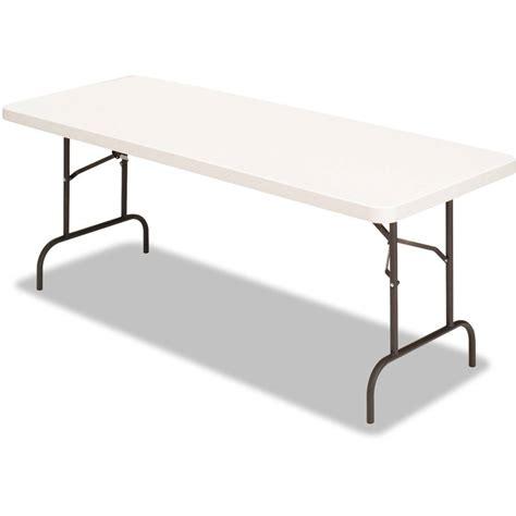 flash furniture 30 quot x 60 quot plastic bi folding table white