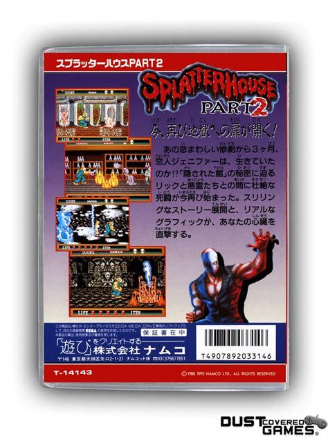Splatterhouse 2 Gen Genesis Game Case Box Cover Brand New