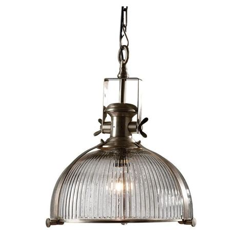 industrial glass pendant light industrial ribbed glass pendant