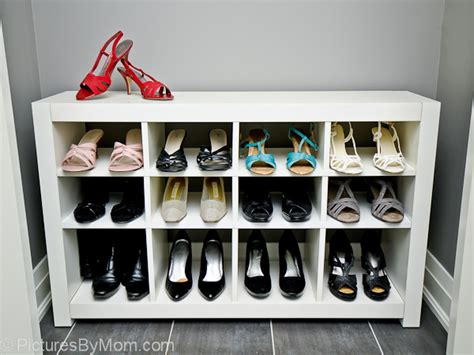 build  custom shoe rack   ikea expedit